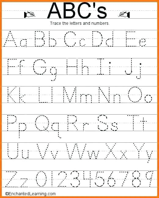 Alphabet Tracing Worksheets Pdf
