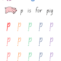 Letter P Worksheets For Preschoolers
