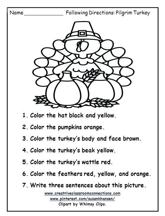 Thanksgiving Social Studies Worksheets