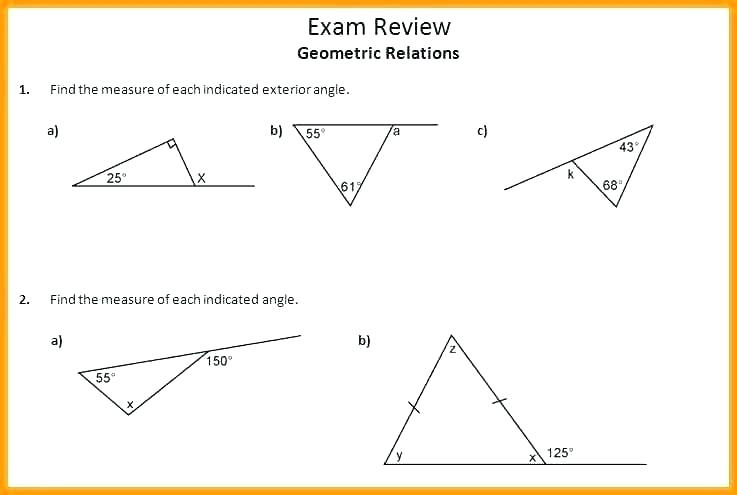 Angle Relationship Worksheets – Dzulfikar Com