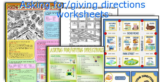 Asking For Giving Directions Worksheets