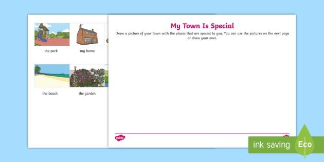 My Town Is Special Worksheet   Worksheet