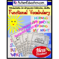 Functional Words Worksheets