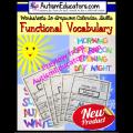 Functional Words Worksheets