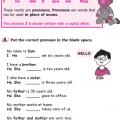 Pronoun Worksheets Grade 1