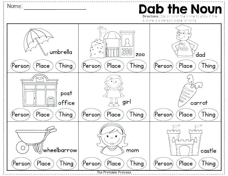 Beautiful Nouns Worksheet For Kindergarten Worksheets First Grade