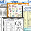 Cardinal Numbers Worksheets