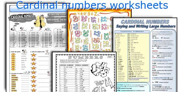 Cardinal Numbers Worksheets