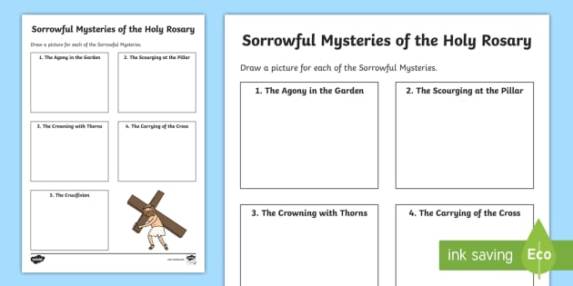 The Sorrowful Mysteries Of The Holy Rosary Activity