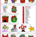 Vocabulary Christmas Worksheets
