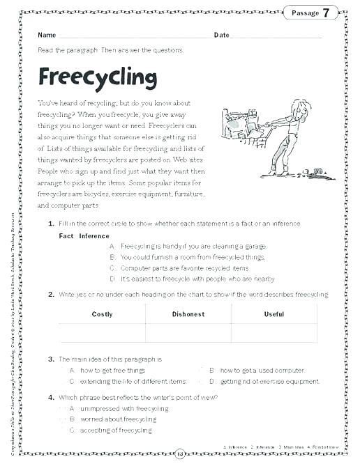 Compreh Worksheets Image Result For Free Printable Grade 4 3 Doc