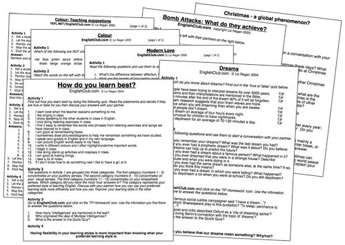 Conversation Worksheets