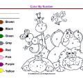Worksheets Colors And Numbers