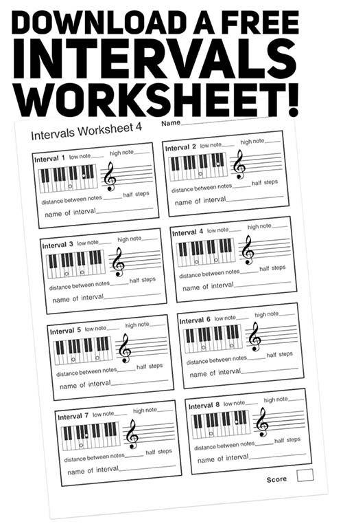 Free Music Theory Intervals Pdf Worksheet