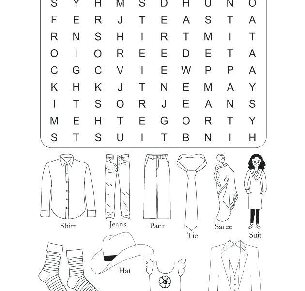 Esl Clothes Worksheets