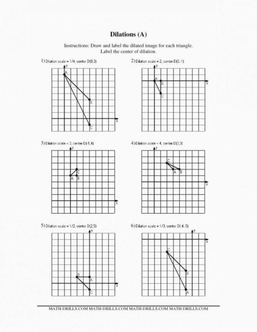 Dilation Worksheet ~ Funresearcher Com