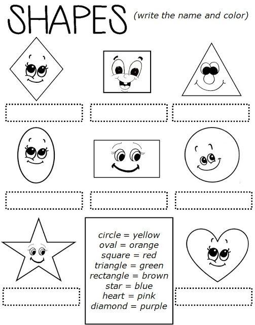 Enjoy Teaching English  Shapes (worksheet)
