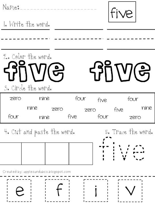 Printing Number Words Zero To Twenty