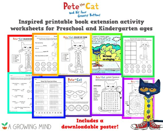 Pete The Cat And His Four Groovy Buttons Book Extension School Or
