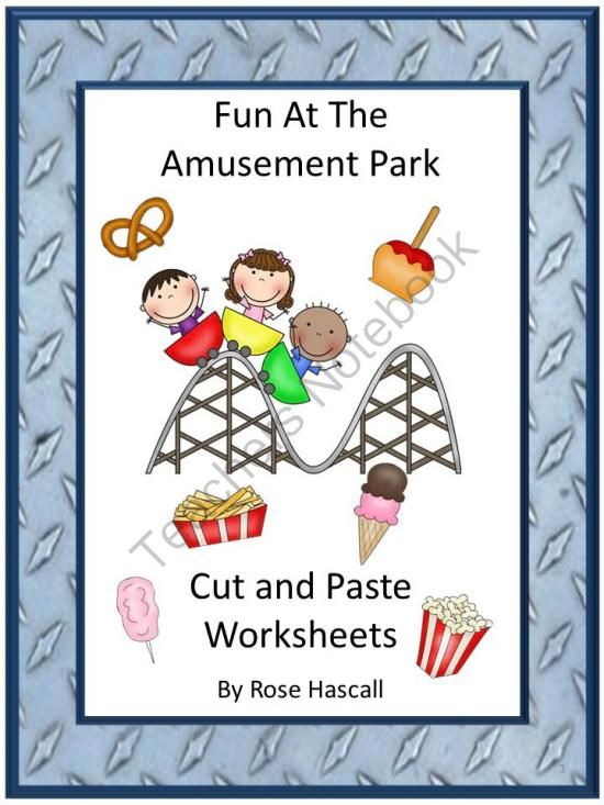Fun At The Amusement Park Cut And Paste Worksheets From