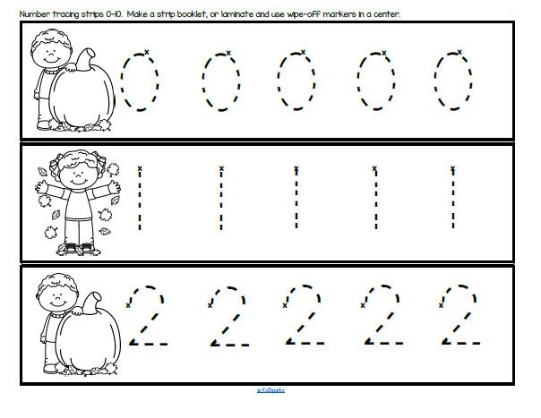 Tracing Numbers 1 10 Worksheets Kindergarten Free