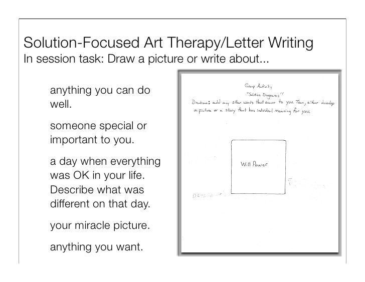 Solution Focused Brief Therapy Worksheets