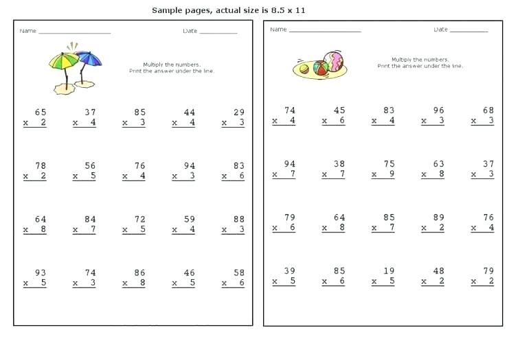 Free Double Digit Multiplication Worksheets Two Digit