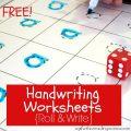 D'nealian Handwriting Worksheets Free