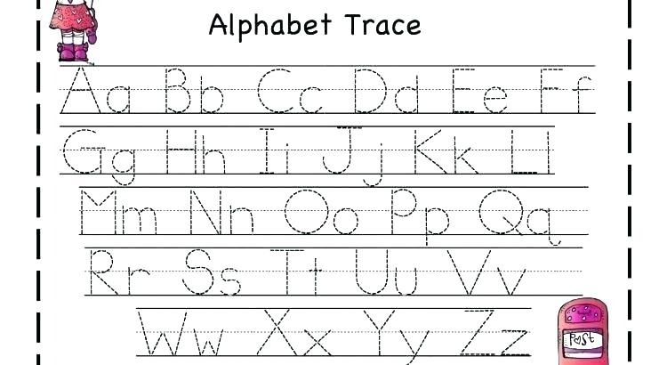 Free Kindergarten Alphabet Writing Worksheets