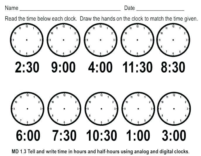Free Printable Telling Time Worksheets – Eastcooperspeakeasy Com