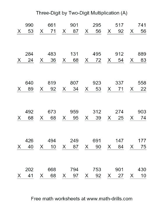 Fun Worksheets For Grade 2 3 By 3 Digit Multiplication Worksheets