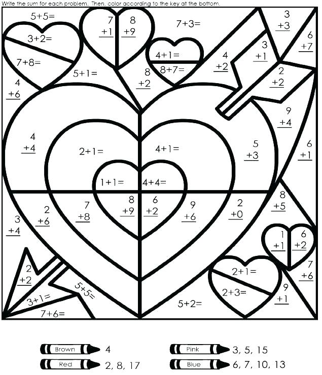 Printable Math Coloring Sheets – Ofgodanddice Com