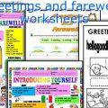 Worksheets Greetings And Farewells