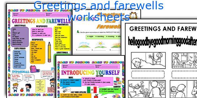 Greetings And Farewells Worksheets