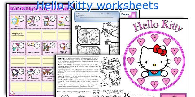 Hello Kitty Worksheets