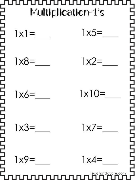 24 Printable Multiplication Worksheets  Numbers 1