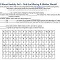 Health Worksheets For Kids