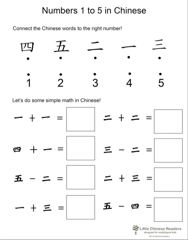 數字(数字) Practice Chinese Numbers 1