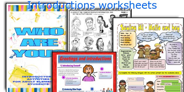 Introductions Worksheets