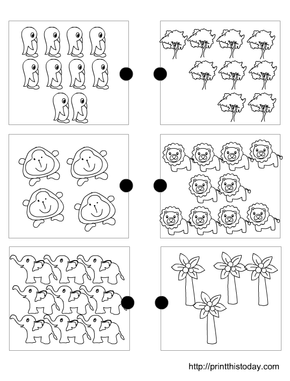 Joining The Matching Sets Free Printable Preschool Math Worksheets