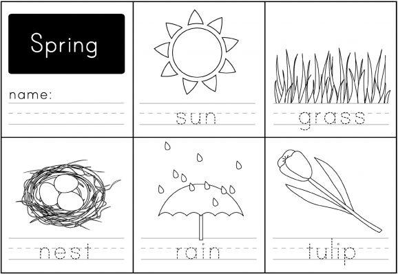 Kindergarten Spring Worksheets Free
