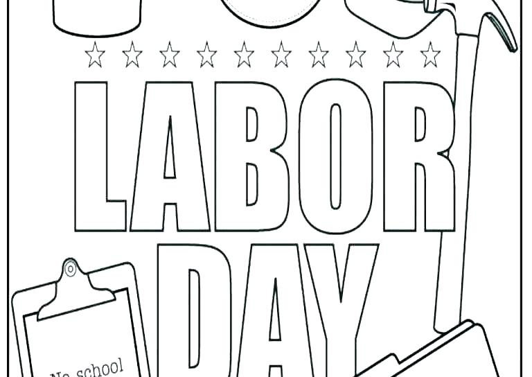 Labor Day Coloring Pages Page Kindergarten Free Printable Fun