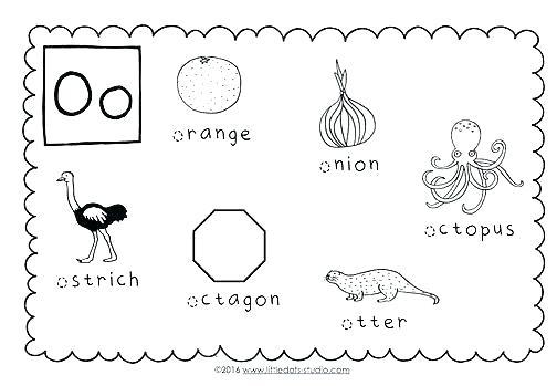 Letter O Preschool Worksheets