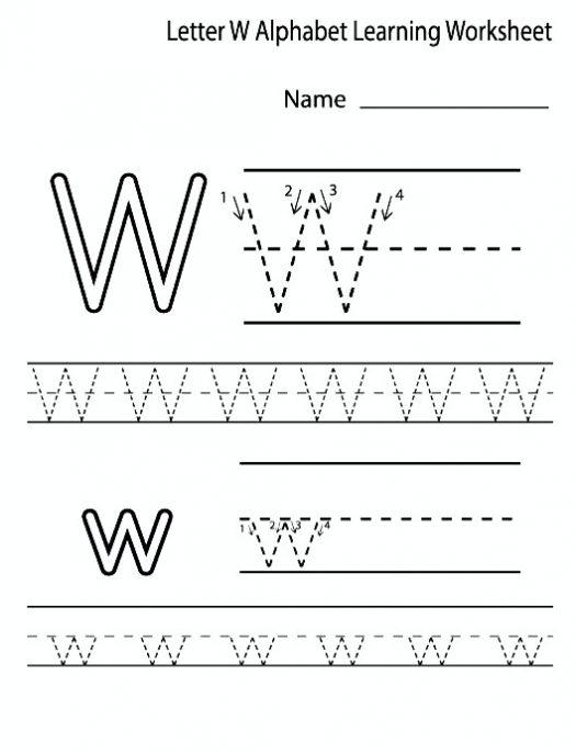 Printable Letter W Worksheets For Preschool & Kindergarten