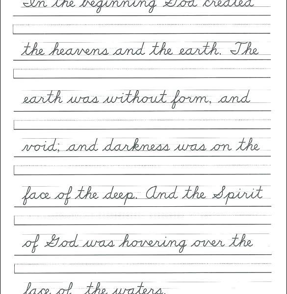 Cursive Writing Worksheets For Grade 3 Handwriting Practice 3rd