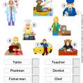 Occupation Worksheets For Kindergarten