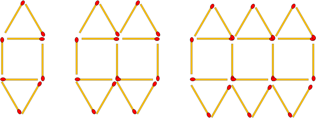 Matchstick Patterns (2) Worksheet