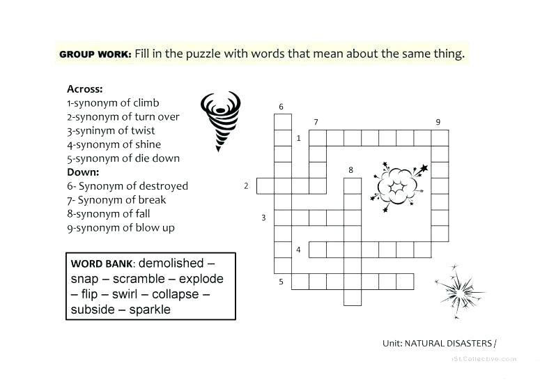 Natural Disasters For Kids Worksheets