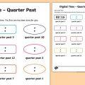 Quarter To And Quarter Past Worksheets