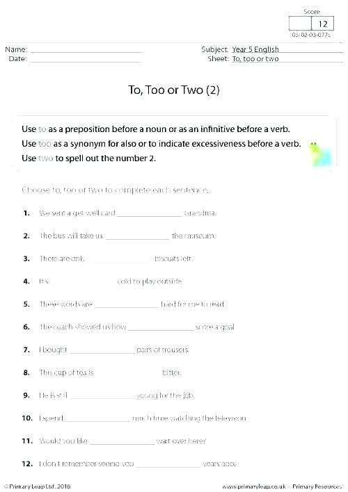 Noun Worksheets Sentence Transformations Using Too Enough